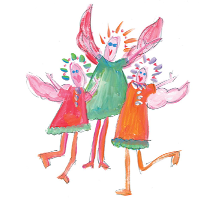 Gotcha Covered Angel Greeting Cards