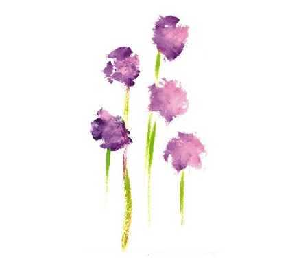 Purple Flower Greeting Cards