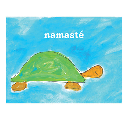 Turtle Namaste Greeting Cards