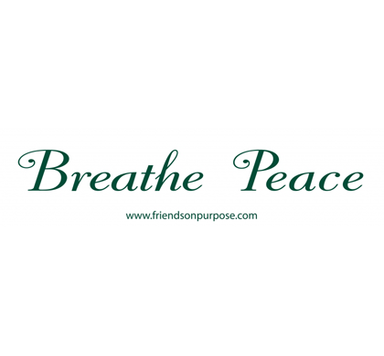 Breathe Peace Bumper Stickers