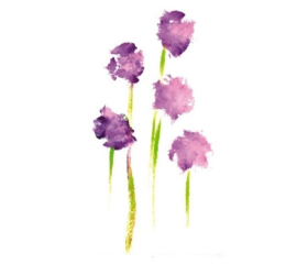 Purple Flower Greeting Cards